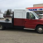 2001 Ford E450 DRW cutaway with custom flatbed