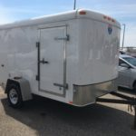 pre-owned Interstate enclosed cargo trailer